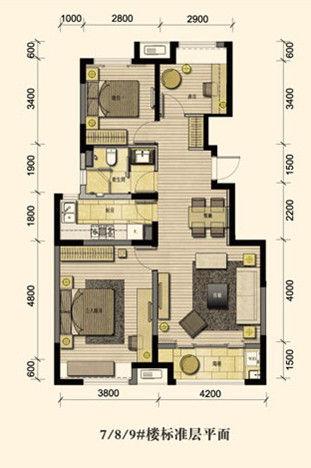 精装小高层稀缺发售,仅30席,69平米一室,100平米,130平米三室精装全明图片