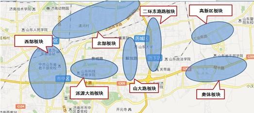 济南地图; 中原地产济南房地产市场月报(2011.